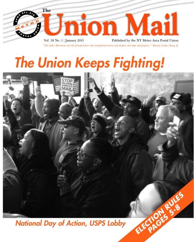 Apwu New York Area Metro  U2018the Union Mail U2019  U2013 January 2015 Edition  U2013 21st Century Postal Worker