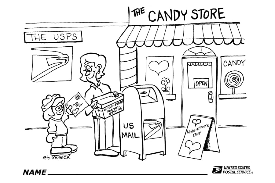usps color of love postmaster creates valentines day page on coloring ...