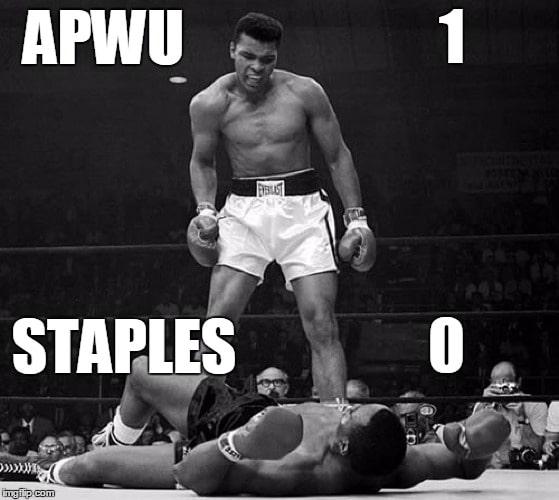 APWU Stopped Staples!