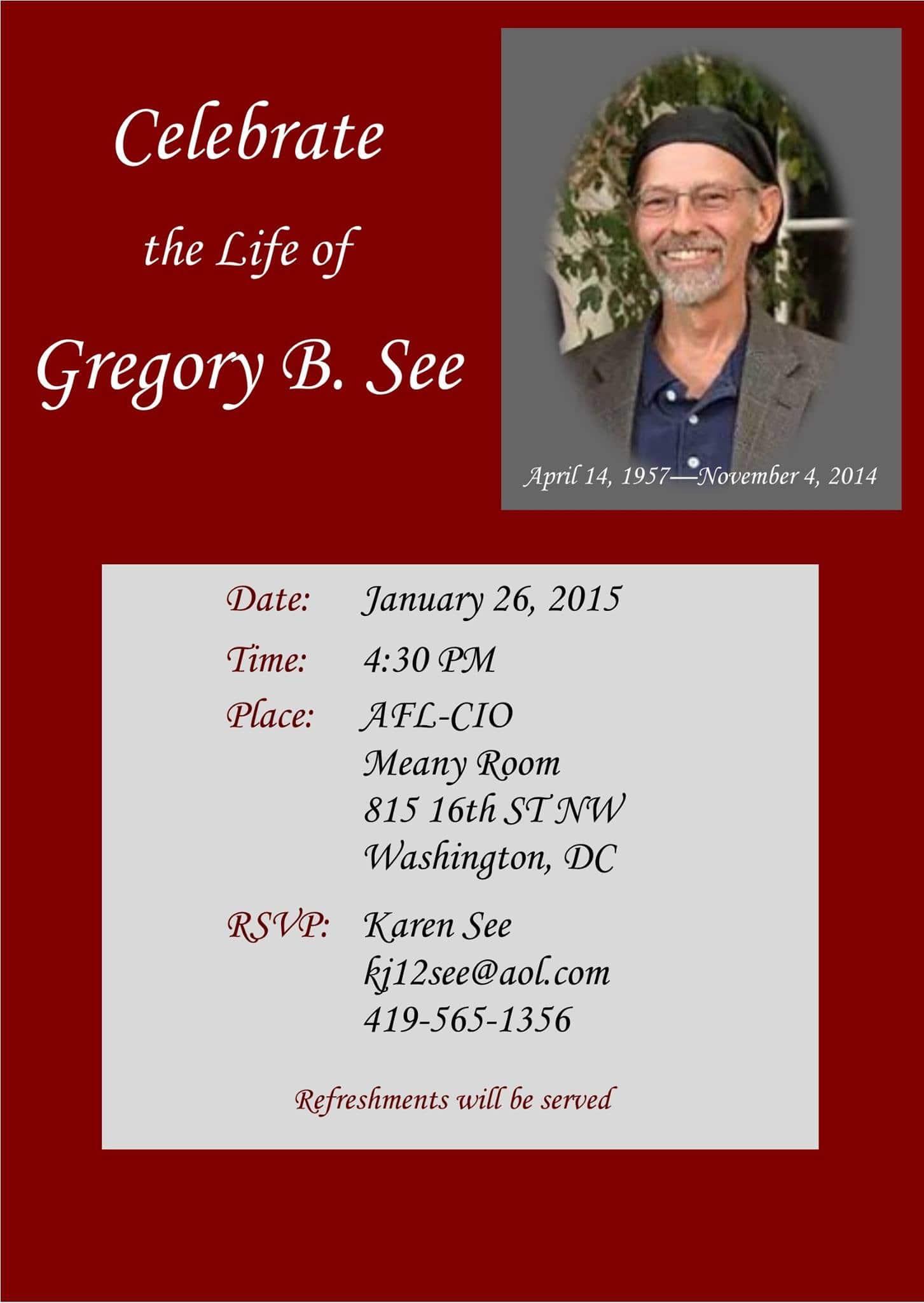 Greg See Memorial