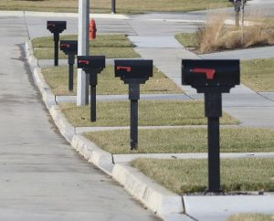 A line of individual mailboxes along Fieldstone Court in the Blackstone Trails subdivision in east Normal were installed before new guidelines introduced by the U.S. Postal Service.