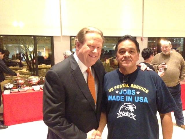 APWU WR Coordinator Omar Gonzalez and Ed Schultz (February 19, 2015)