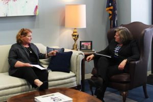 Senator Heitkamp met with PMG Brennan in March 2015 to discuss USPS's downsizing and reduced service standards.