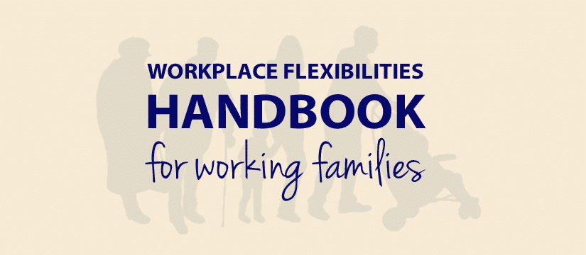 Our Handbook on Leave and Workplace Flexibilities for Childbirth, Adoption and Foster Care provides scenarios and tips to give employees realistic and specific examples about how these policies can and should be applied. It was developed with the help of representatives from more than 40 Federal agencies, and it is an important milestone in achieving the President's vision for Federal working families.