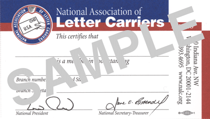 Click on sample NALC membership card for CCA blog site post