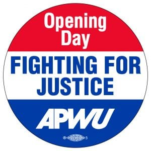 To show solidarity, union members will wear  stickers on the opening day of arbitration.  Stickers are being mailed to members' homes.