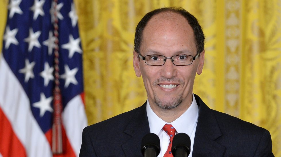 US Secretary of Labor Thomas E. Perez