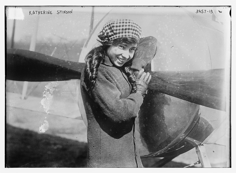 Katherine Stinson, the first woman pilot to carry mail. Photo: Library of Congress