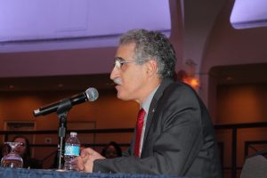 APWU President Mark Dimondstein addressing the arbitration panel (Feb 2016)