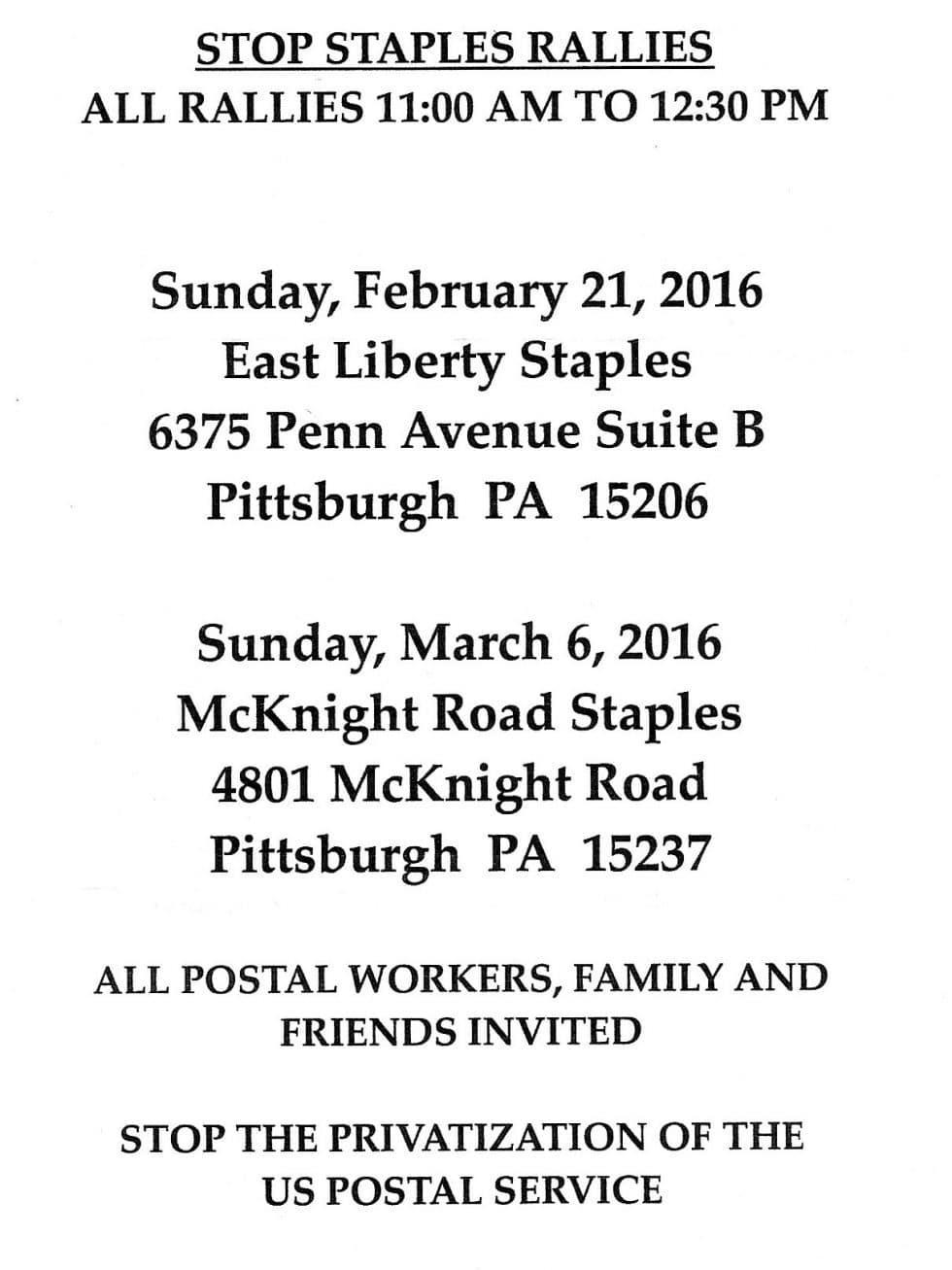 western_PA_postal_workers_Feb2016_schedule