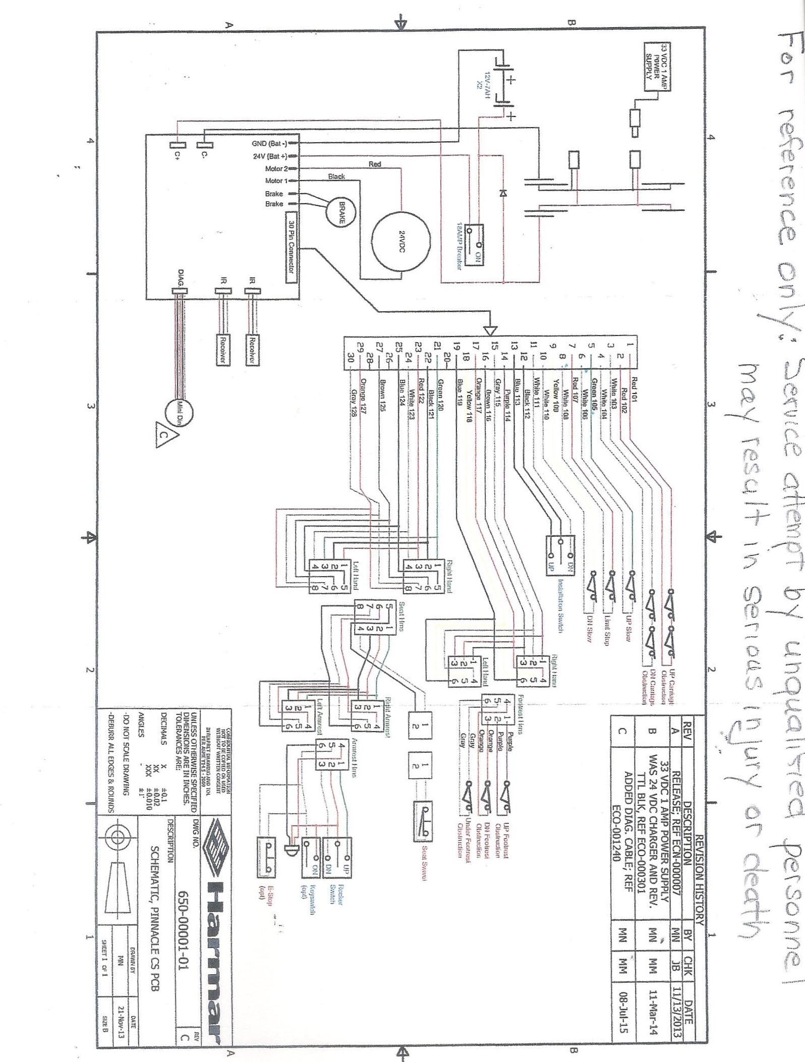 Pinnacle_Stairlift_Schematic_CSPCB_Harmar_001 a pinnacle stairlift schematic cspcb harmar 001 jpg 21st century savaria v1504 wiring diagram at alyssarenee.co