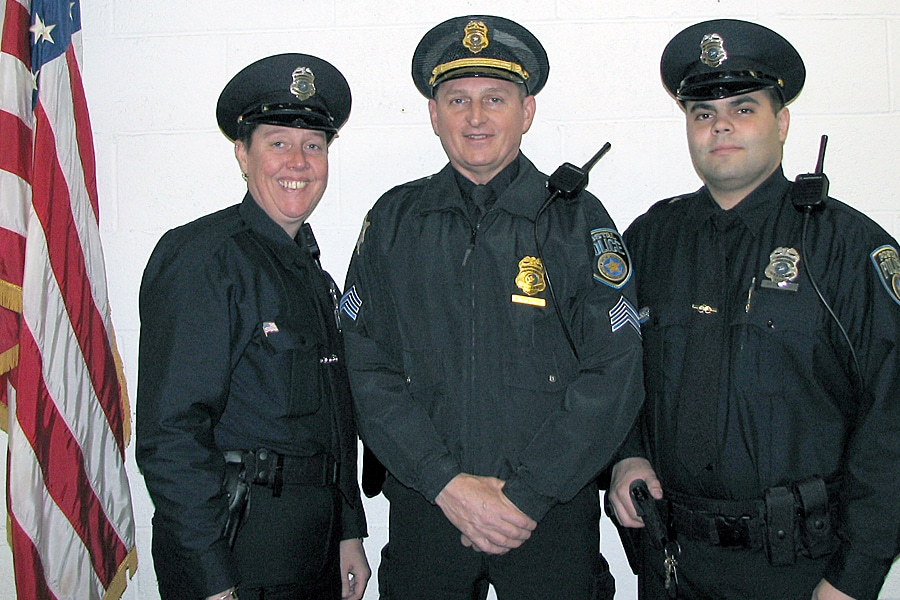 Boston Division Postal Police Officers Patricia Grant, Sgt. Michael Stanton and Officer Glen Baczewski