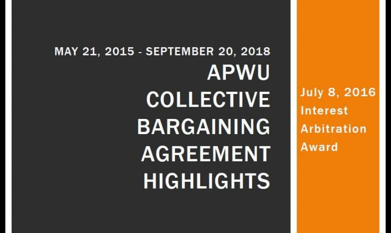 2015 2018 Apwu Collective Bargaining Agreement Highlights