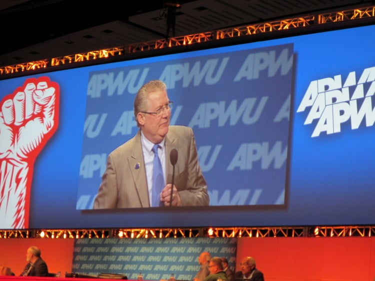 Mike Gallagher at 2014 APWU Biennial National Convention
