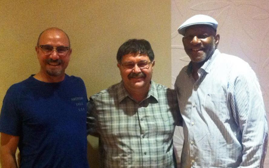 Vance Zimmerman (c) with Mike Foster, Director MVS Division (r) and Javier Piñeres, Assistant Director MVS Division (l)