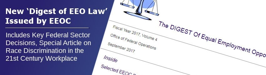New 'Digest of EEO Law' Issued by EEOC – 21st Century Postal