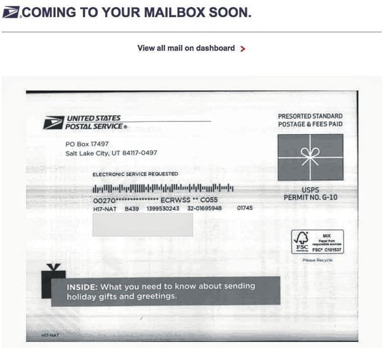 Is USPS' Informed Delivery feature a new target for security