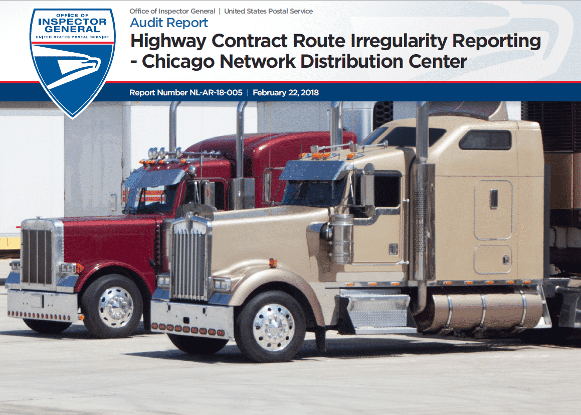Oig Highway Contract Route Irregularity Reporting Chicago Ndc