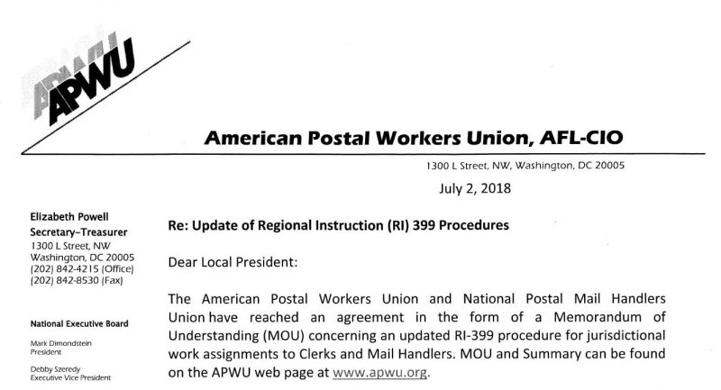 Updated Ri 399 Training 21st Century Postal Worker