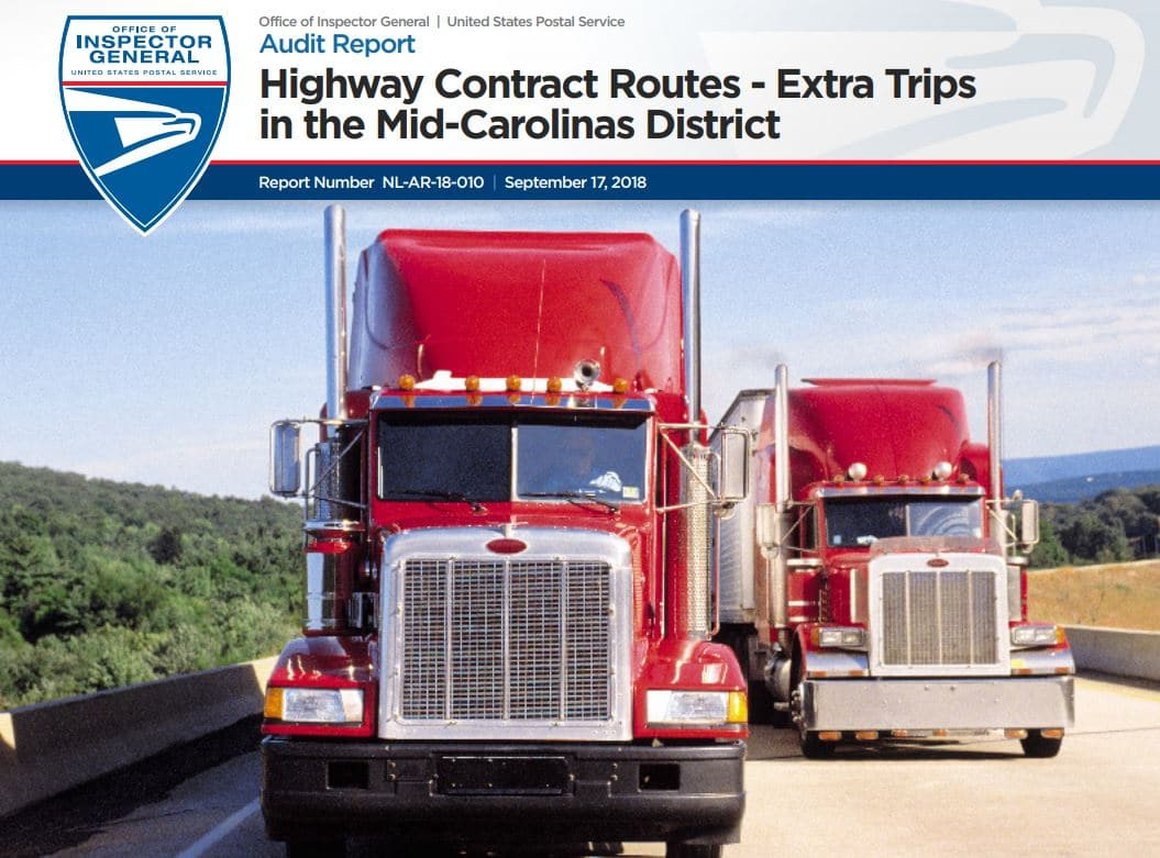 Usps Oig Report Highway Contract Routes Extra Trips In Mid