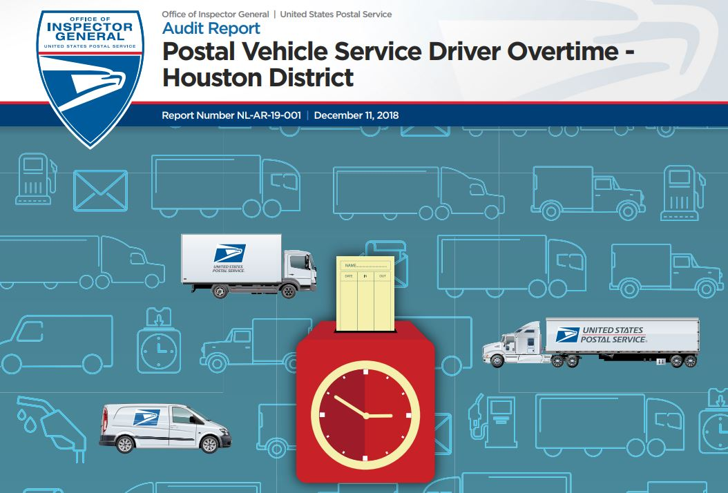 usps oig report postal vehicle service driver overtime houston