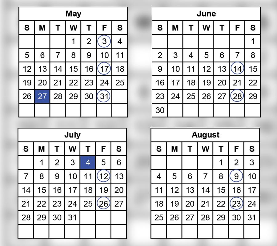 USPS: Calendars show 2019 payroll schedule – 21st Century ...
