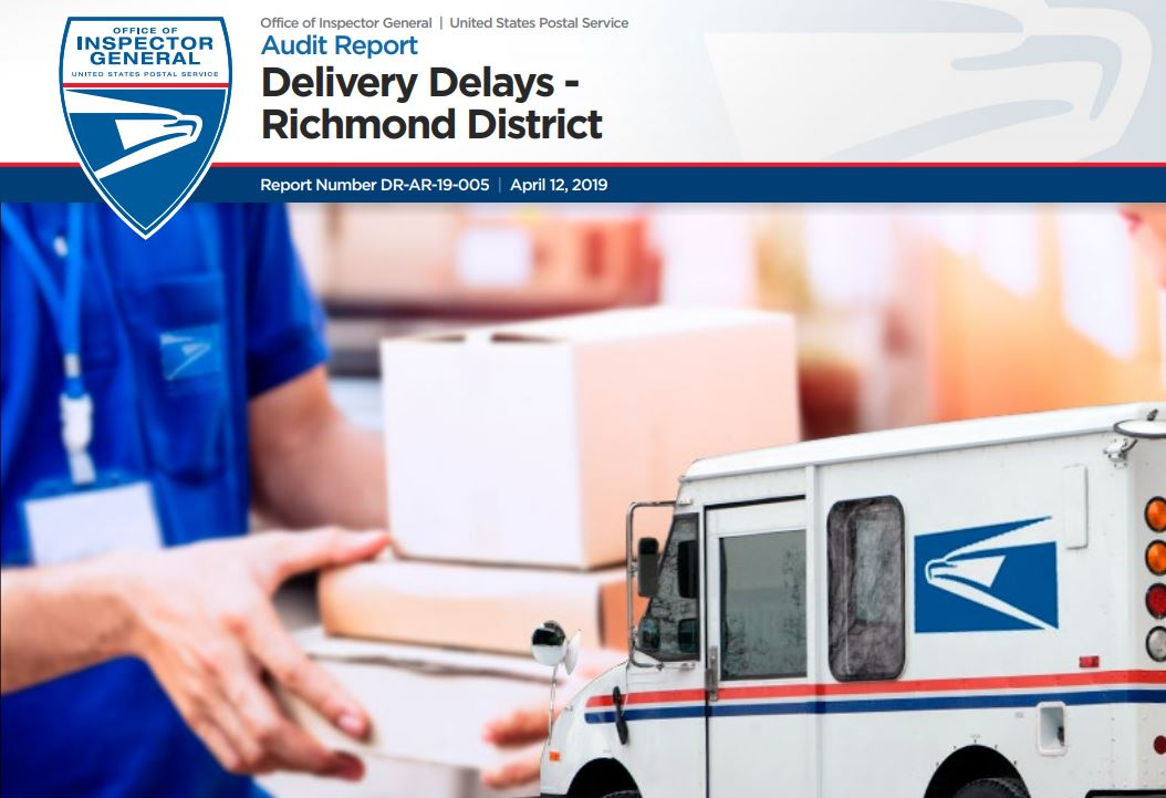 USPS OIG Report: Delivery Delays – Richmond District – 21st