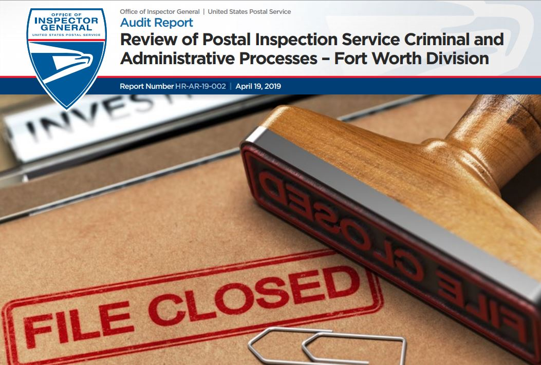 USPS OIG: Review of Postal Inspection Service Criminal and